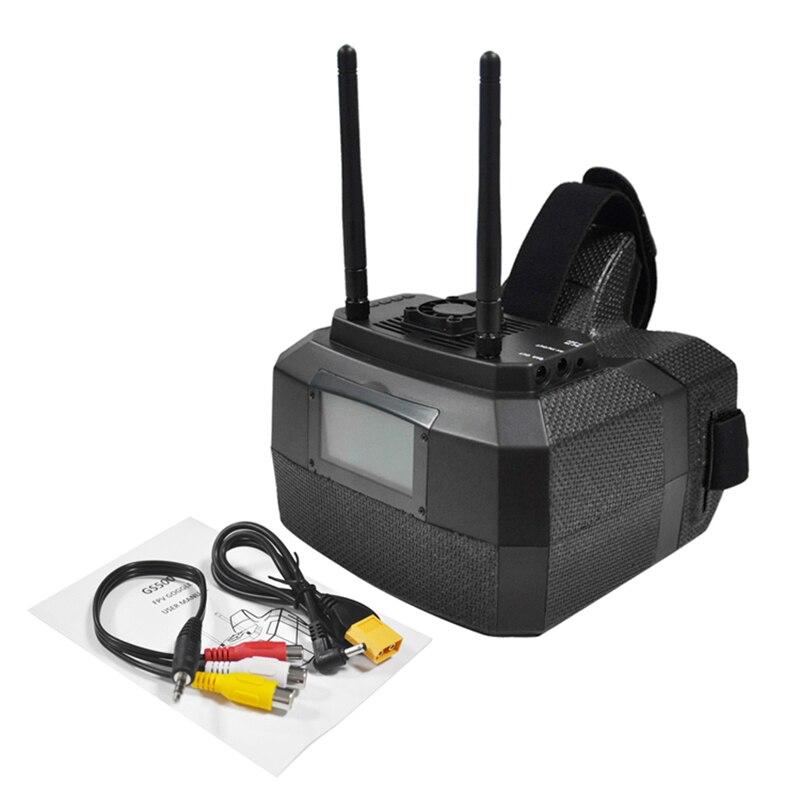 Skyzone GS500 5.8g 48CH Raceband Diversité FPV Lunettes 5 pouces 800*480 HDMI Vidéo Lunettes pour RC FPV caméra Drones