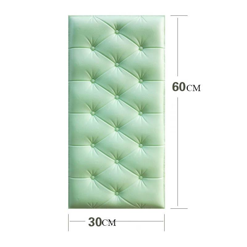 Papel pintado autoadhesivo impermeable de espuma de PE de cuero de imitación 4 Uds para sala de estar dormitorio niños habitación infantil decoración para el hogar papel de pared en 3D - 6