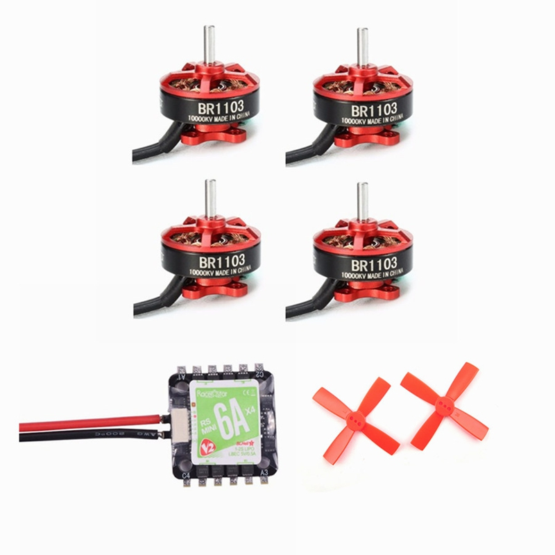 ФОТО High Quality Racerstar Racing Edition BR1103 10000KV Motor and RS6Ax4 6A Blheli_S BB2 ESC and 10 Pairs 2035 Propeller RC Model