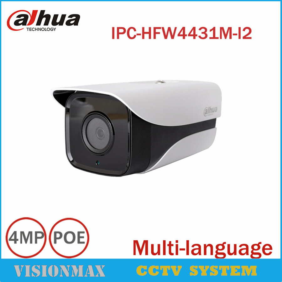 Dahua CCTV 4MP POE IP Camera H.265 IPC-HFW4431M-I2 IP67 IR 80M WDR ONVIF Infraed Night Vision Surveillance Outdoor Bullet camera dahua motorized lens 2 7mm to 12mm ip camera ipc hfw2320r zs 3mp poe cctv ip camera ir 30m day night vision security ip camera