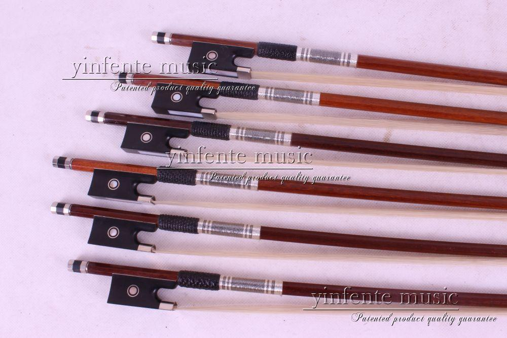 4 pcs 4/4 Round STICK Violin  Parisian Eyes Brazil wood 87#Bow Ebony Frog 1 pcs brazilwood violin bow 4 4 straight best model fr og round stick xd 033