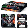 Play station 4 Console  Vinyl Decal Skin Cover & PS4 Remote Controllers Skin Stickers - The Joker Smile Clown Prince of Crime