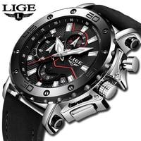 Relogio Masculino 2019 LIGE Watch Luxury Brand Men Analog Leather Sport Watches Men's Army Military Watch Male Date Quartz Clock