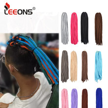 Leeons Crochet Braids Hair Crochet Handmade Dreadlocks Hair Extension Fashion Dreads Braiding Hair For Women And Men 18 Inch(China)