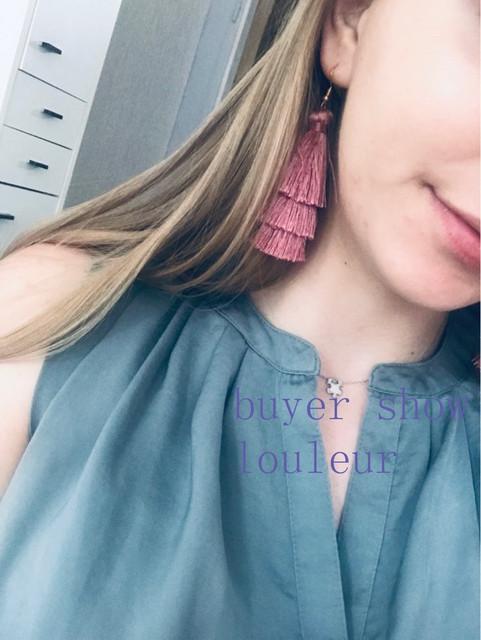 Bohemian Fringed Cheap Statement Tassel Earrings