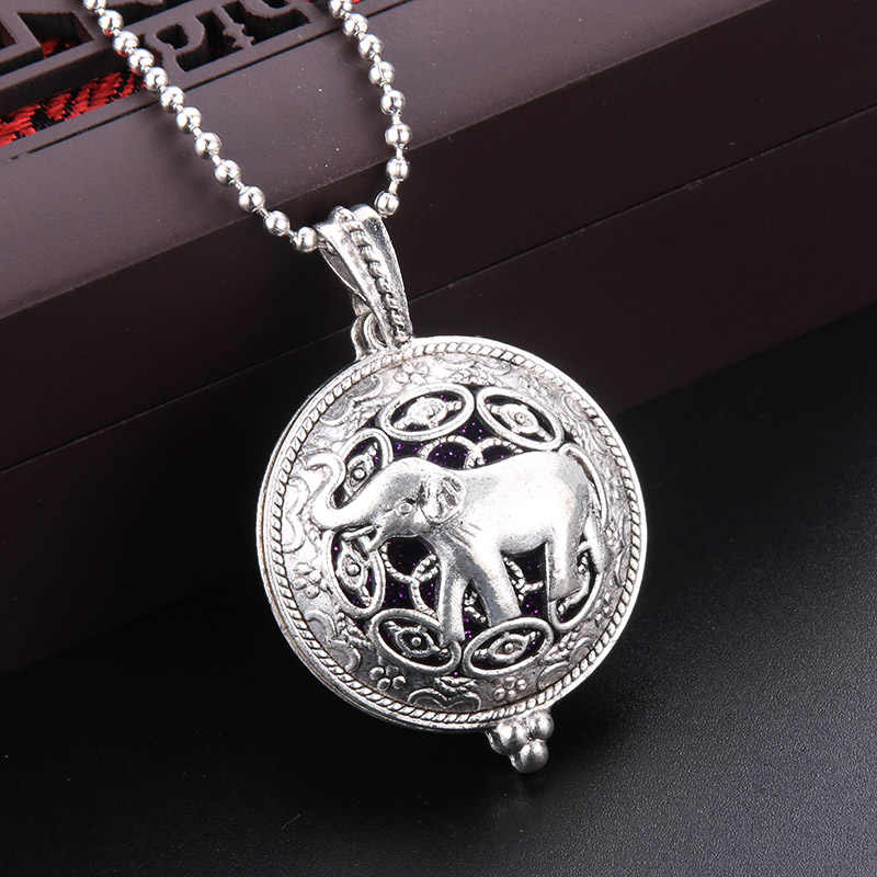 Aroma Diffuser Necklace Open Antique Vintage Lockets Pendant Perfume Essential Oil Aromatherapy Locket Necklace With Pads