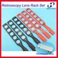 Optical Ophthalmic Retinoscopy Lens Rack Set Trial Lenses Plastic Bar Aluminium Case Board lenses 6 Bars 30 Lenses