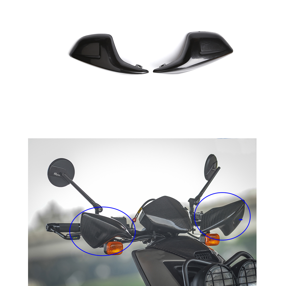Black Motocross Handguards Plastic Hand Guards Windshield Deflectors Wind Cold Protector For Yamaha BWS X 125 (Left & Right)