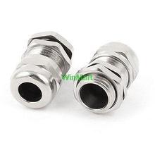 4 шт. M14 серебристый металлический 4-8 мм диаметр Водонепроницаемые кабельные сальники разъемы