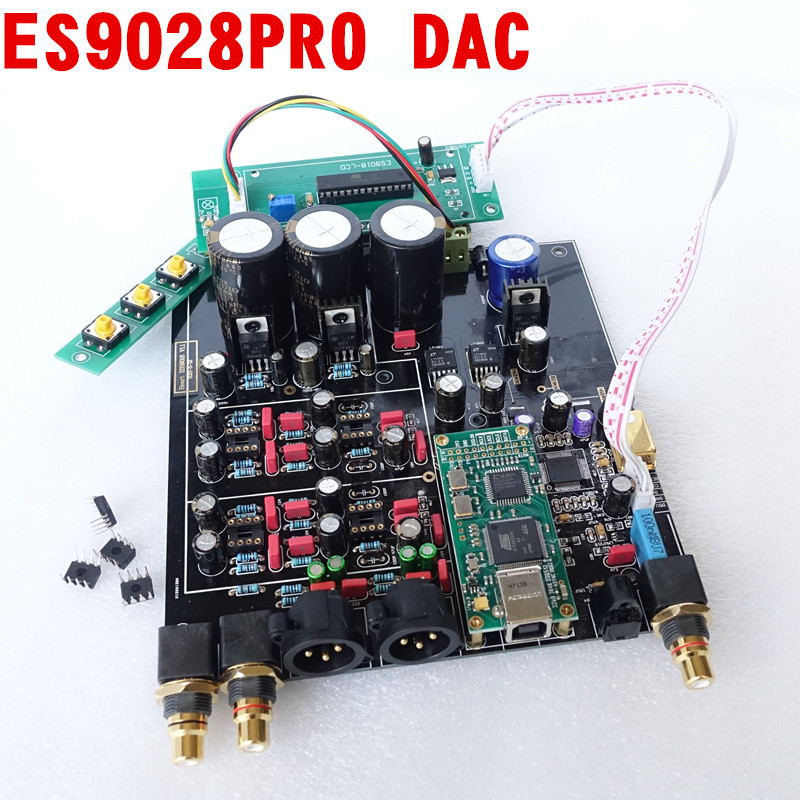 ES9028PRO +TCXO 0.1PPM 4 Layer DAC decoder board support Amanero iis / XMOS USB interface ...