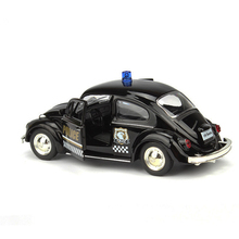 RMZ City Volkswagen Beetle Police Car 1:32 Toy Vehicles Alloy Pull Back Replica Authorized By The Original Factory Model Toys
