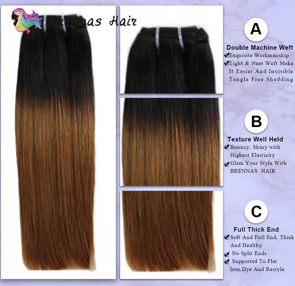 Double Drawn  Straight Hair s Ombre 1b30  Funmi  Bundles non  hair s Brennas 2
