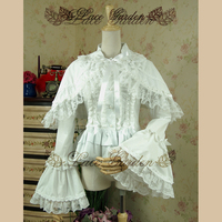 Classic Victorian Women S Long Flare Sleeve Shirt Vintage Lolita Blouse With Cape By Lace Garden