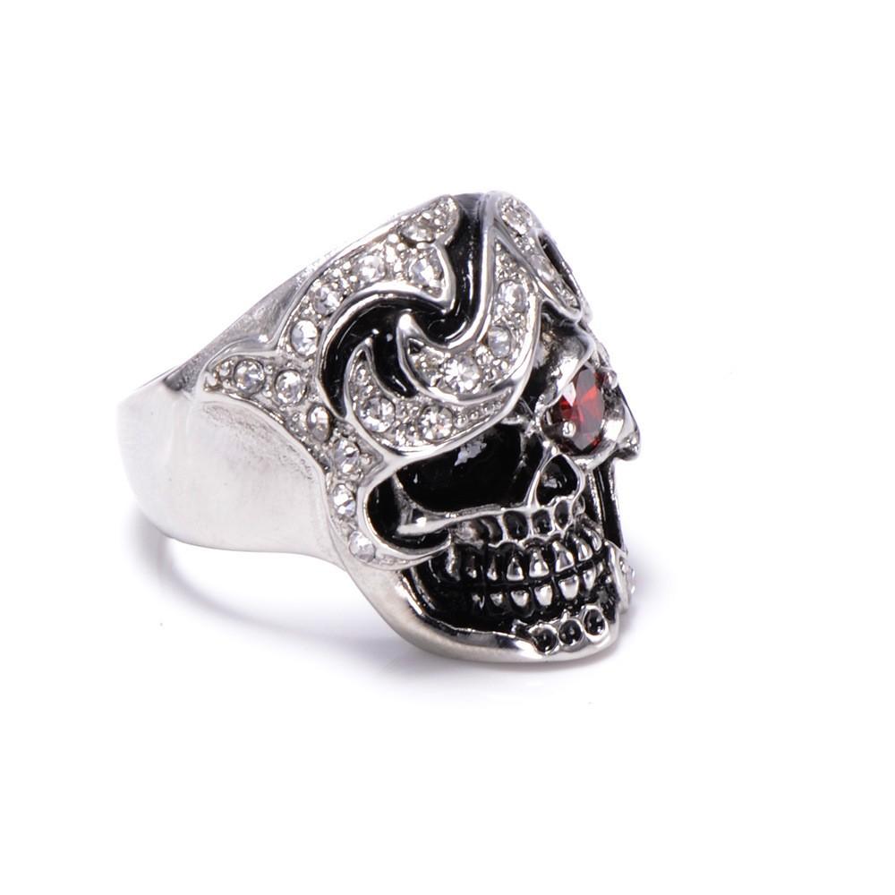 HTB1f09oKXXXXXcmXFXXq6xXFXXXZ - Skull Shaped Pirate Inspired Ring with Crystals
