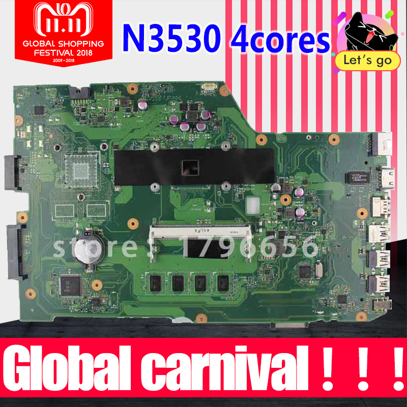 r752md motherboard x751md rev2 0 mainboard k751m k751ma x751ma r752m processor n3530 with 4g memory on board gt 820m 1g tested For ASUS k751M K751MA X751MA R752M R752MA Motherboard X751MD rev2.0 Mainboard processor N3530 100% Tested