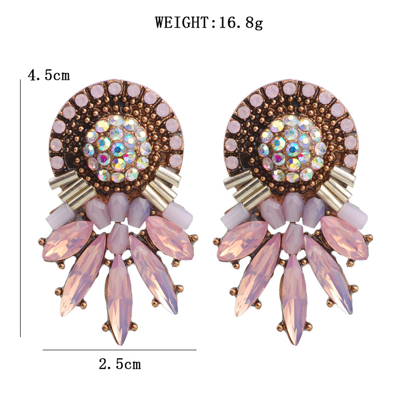 L H 2018 Female Cute Stud Earrings Exaggerated Geometric Acrylic Charm Earrings For Women New Elegant Statement Fashion Jewelry in Stud Earrings from Jewelry Accessories