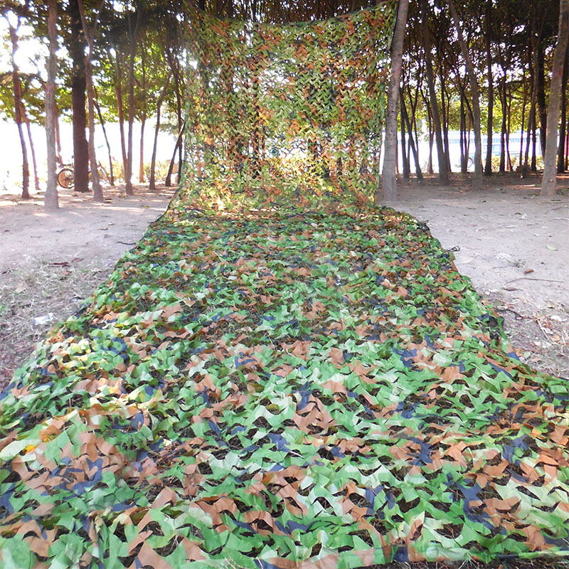 ФОТО Outdoor Hunting Airsoft Net Jungle Woodland Camouflage Shade Net Military Manoeuvre Hunting CS Games Theme Garden Netting 2x6m