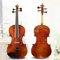 B04 4/4 3/4 1/2 1/4 1/8 Size Natural Acoustic Violin Fiddle Craft 4 String Instrument For Professional Violin Lover Beiginner
