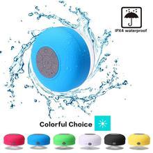 Мини беспроводной Bluetooth Динамик Hands Free водонепроницаемый автомобиль ванная комната офис пляж стерео сабвуфер музыка громкий динамик с всасыванием