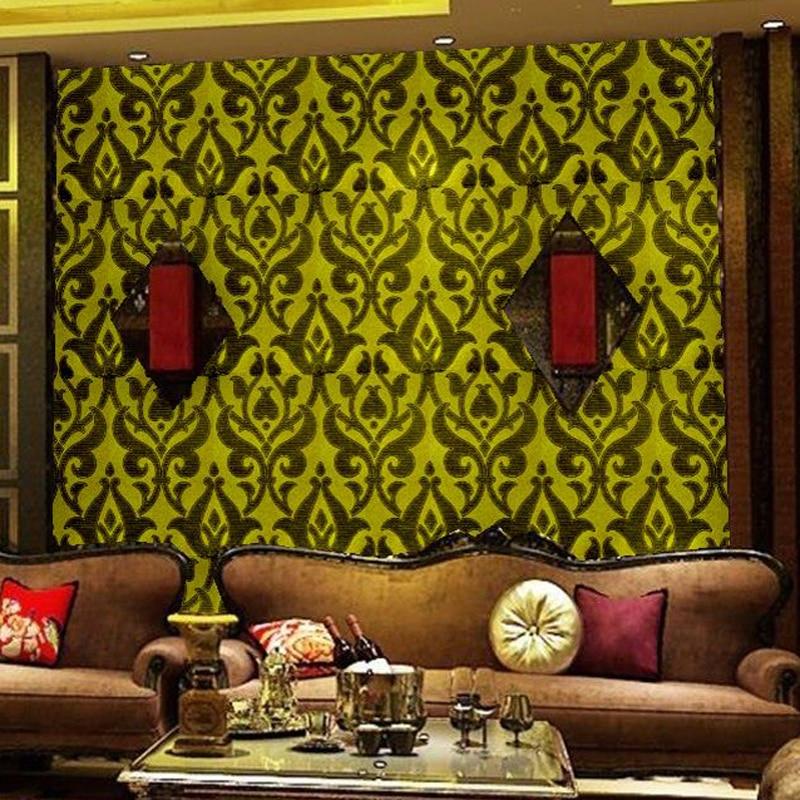 European 3D Glitter Fabric Wall Coverings Bar Beauty Salons Living ...