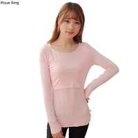 2103b81cc Maternity Clothing Long Sleeve Breast Feeding Clothes For Pregnant Women  Tees Pregnancy Tshirt Nursing Tops