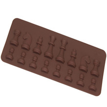 Foreign Trade Explosion Models Silicone Chess Chocolate Mold 21*8.8*1.1cm
