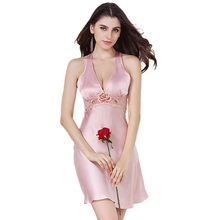 Color Nightdress Embroidery 100%
