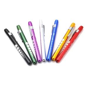 New Hot 1 Pcs Diagnostic First Aid Nurse LED Penlight Portable Flashlight Pen Light Torch Emergency(China)