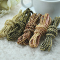 5MM 10meters/lot Gold wire herringbone weave elastic rope twisted cord for DIY decorative hair accessories