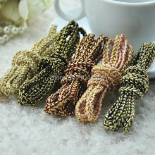 5 MM 10 metros/lote hilo de Oro tejido de espiga elástica cable trenzado de cuerda para la decoración de DIY accesorios para el cabello