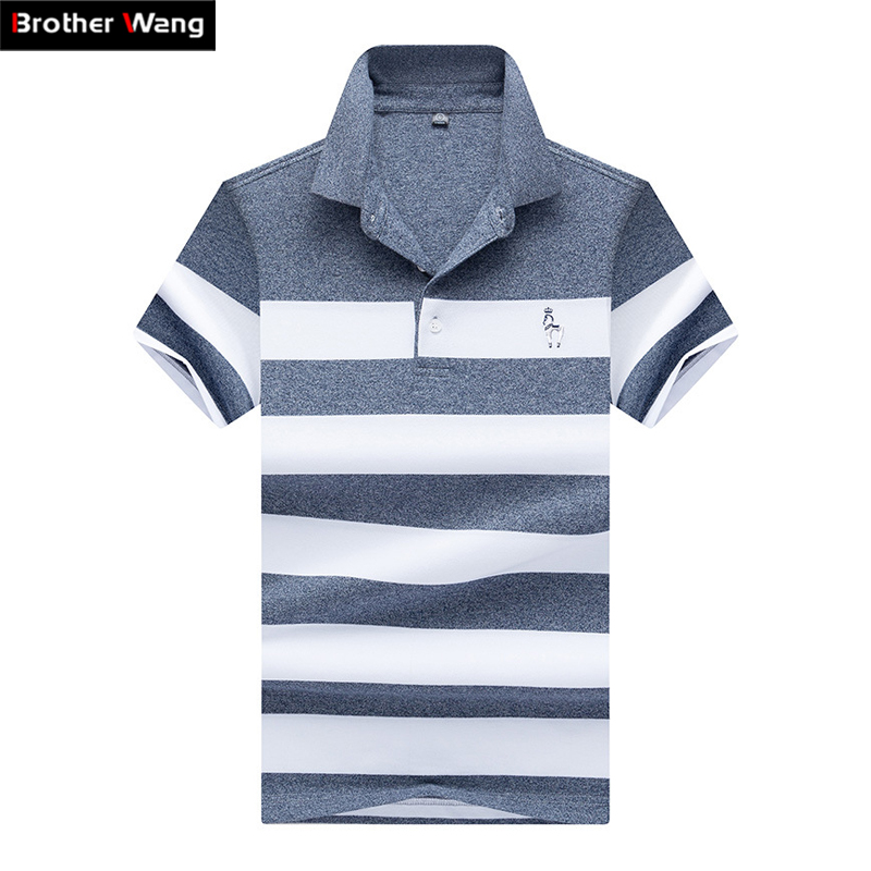 Men Clothes 2019 Summer New Style   Polo   Shirt Men's Business Casual Embroidery Horse Short Sleeve   POLO   Blouse Tops Brands