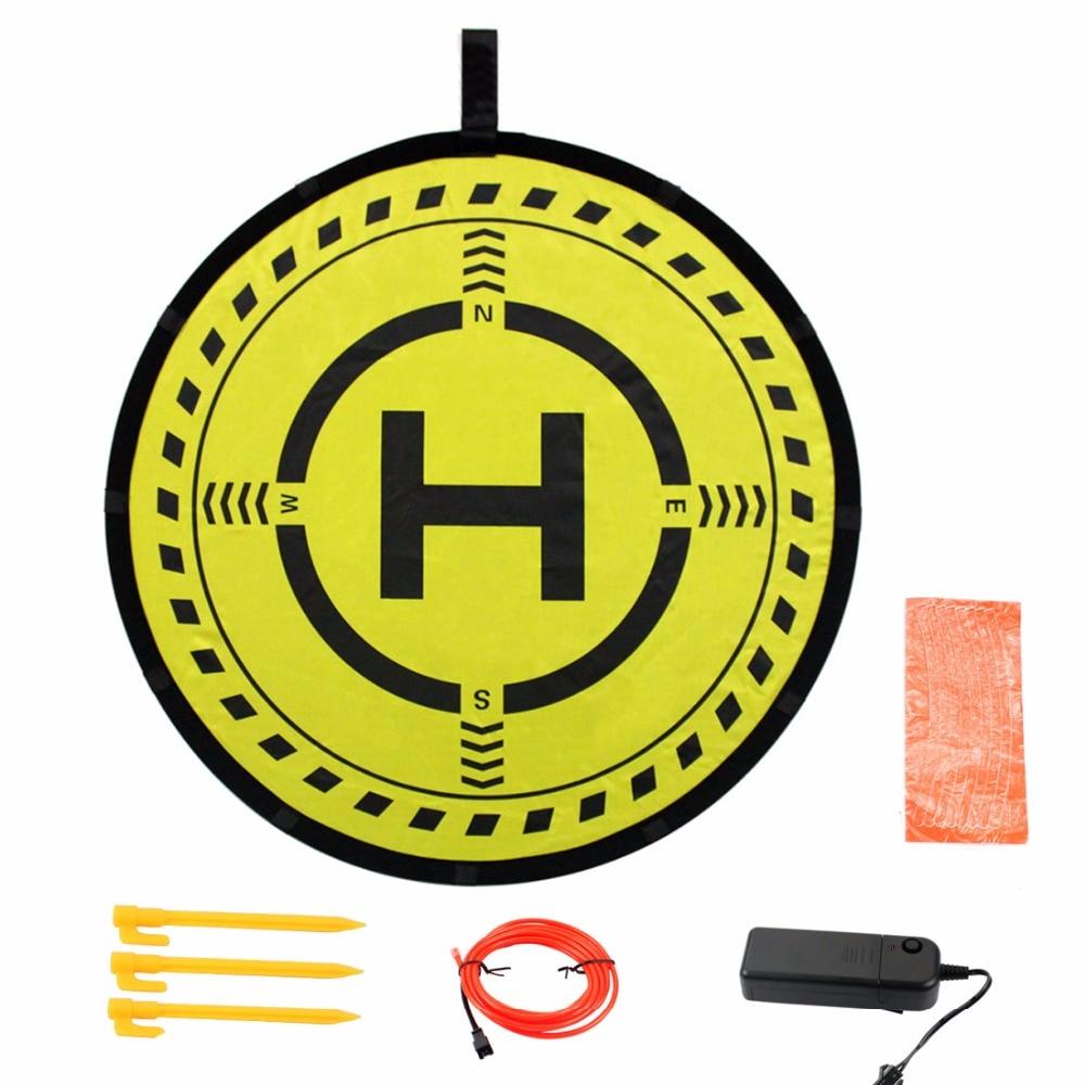 Diameter 70cm 2-Sided Fast-Fold LED Landing Pad Light Parking Aporn Waterproof For DJI Mavic Air/Pro Spark Phantom 3/4 Pro 4Pro+