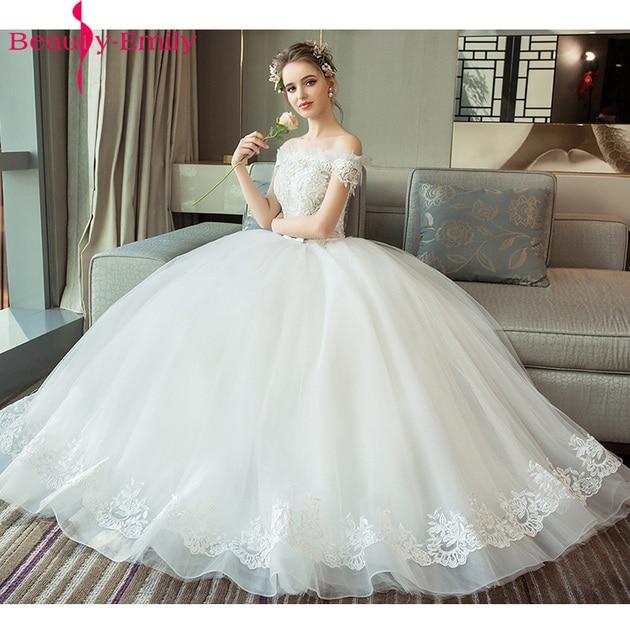 7b58576061c6 Gorgeous Boat neck Ball Gown Wedding Dress Lacing Vestido De Novia Princess  Vintage Wedding Dresses Real Photos Bridal Gown 2018