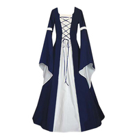European Retro Dresses Medieval Renaissance Clothing Halloween Party Cosplay Adult Women Medieval Long Dresses Party Dresses