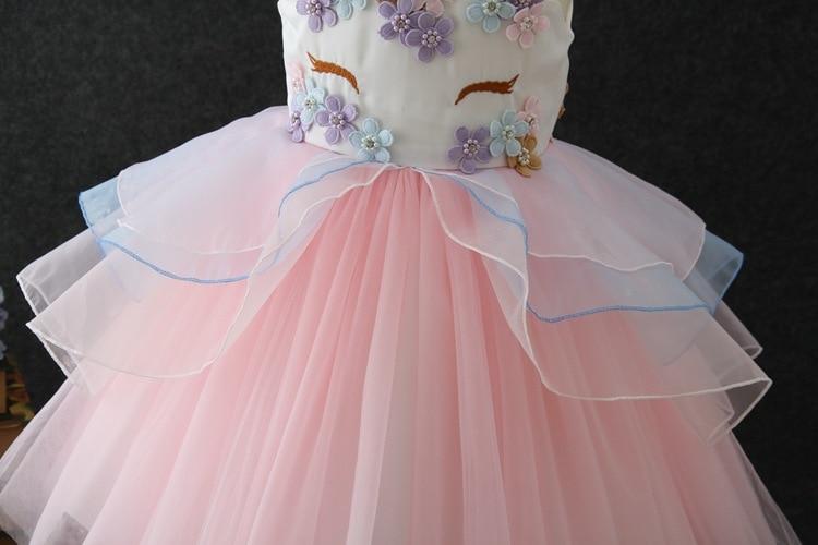 HTB1f0BVoIyYBuNkSnfoq6AWgVXaG Unicorn Dresses For Elsa Costume Carnival Christmas Kids Dresses For Girls Birthday Princess Dress Children Party Dress fantasia