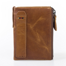 Daffdoil Handmade Genuine Leather Wallet Men Women Original Design Gift Cow Coin Pocket
