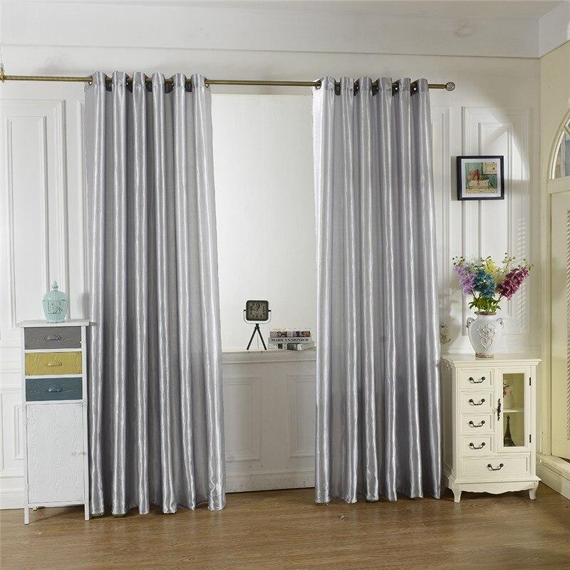 2017 New Blue Black 10 Colors Satin Curtains Tulle Door Windows