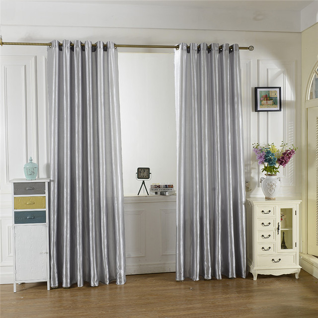 2017 New Blue Black 10 Colors Satin Curtains Tulle Door Windows Curtain Drape Panel Sheer Scarf