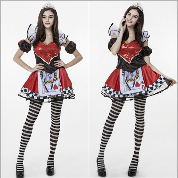 2017 Christmas Party Halloween Costumes For Women Sexy Costume Queen Poker Las Vegas Girl Cosplay Licensing  sc 1 st  AliExpress.com & 2017 Christmas Party Halloween Costumes For Women Sexy Costume Queen ...