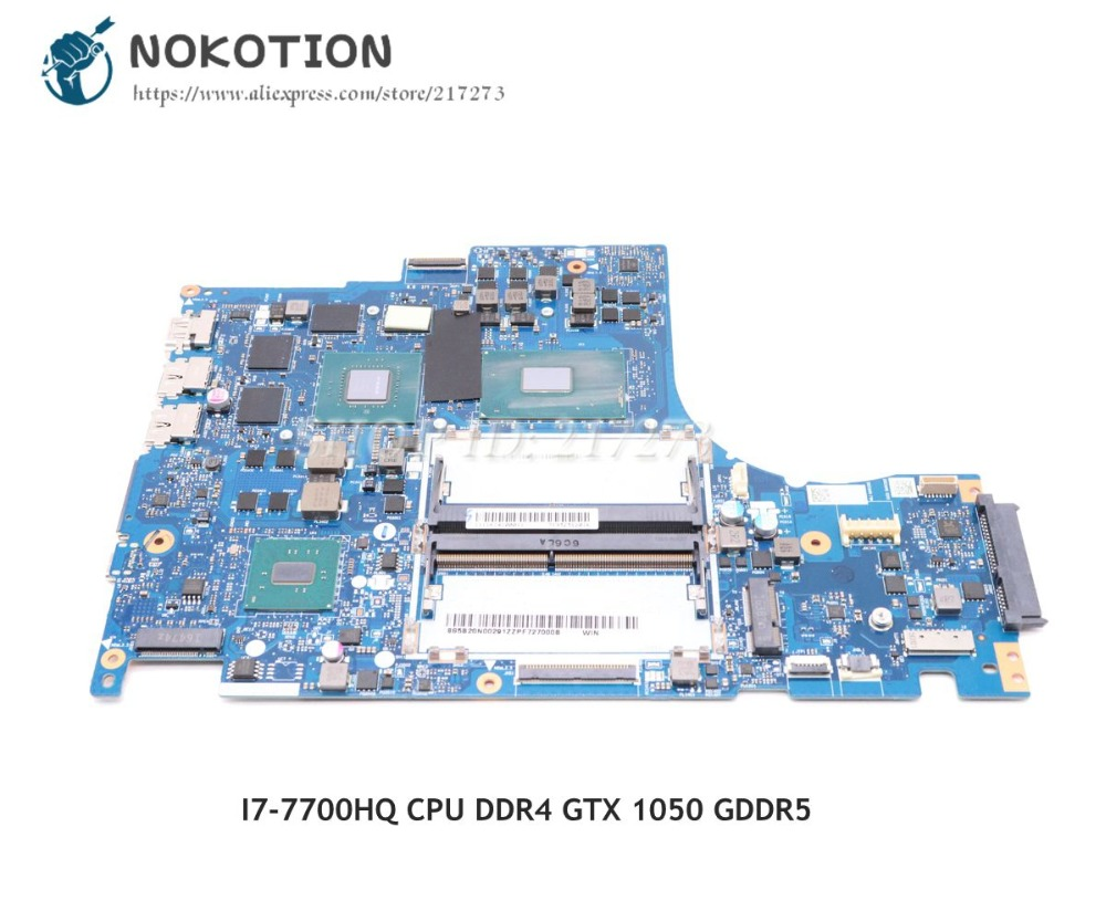 NOKOTION DY512 NM-B191 Main Board For Lenovo Y520 Laptop Motherboard 15.6 Inch I7-7700HQ CPU DDR4 GTX 1050 GDDR5 блендер first fa 5295