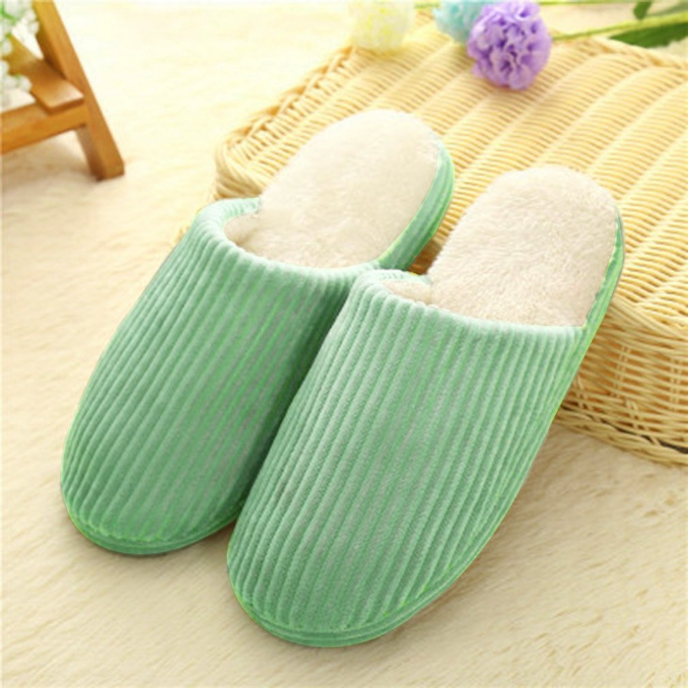 Soft Winter Warm Home Indoor Cotton Plush Women Slippers Anti-Slip Fur Slippers Comfortable Shoes For Couple