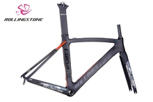 Rolling Stone Corsa Aerodynamic Road Carbon Frame set black Red 46cm UCI certified Road Bicycle frame Bike frame