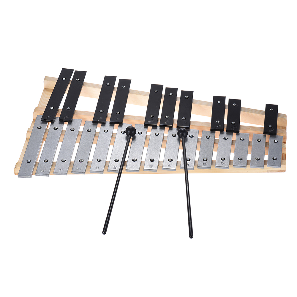 25 Note Glockenspiel Xylophone Educational Musical Instrument Percussion with Carrying Bag Gift for Music Lovers