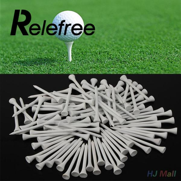 100Pcs Sports 70mm Wooden Golf Tees Driving Range Mat Holders For Training
