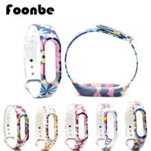 1 Pcs Skull Flower Replacement Band For Xiaomi 2 for Miband 2 Smart Wristband Silicone Strap Belt for Mi Band 2 Bracelet