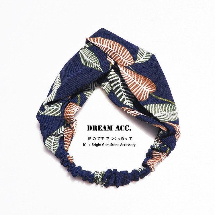 ᗚ2017 diadema de tela hoja retro moda temperamento cinta hermosa ...