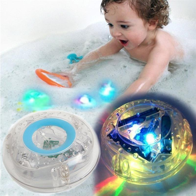 Creative Pool Fun Colorful Light-Up Toy Waterproof Boat Durable Floating Bath Shower Toys For Children Boys Girls Toddler Toys