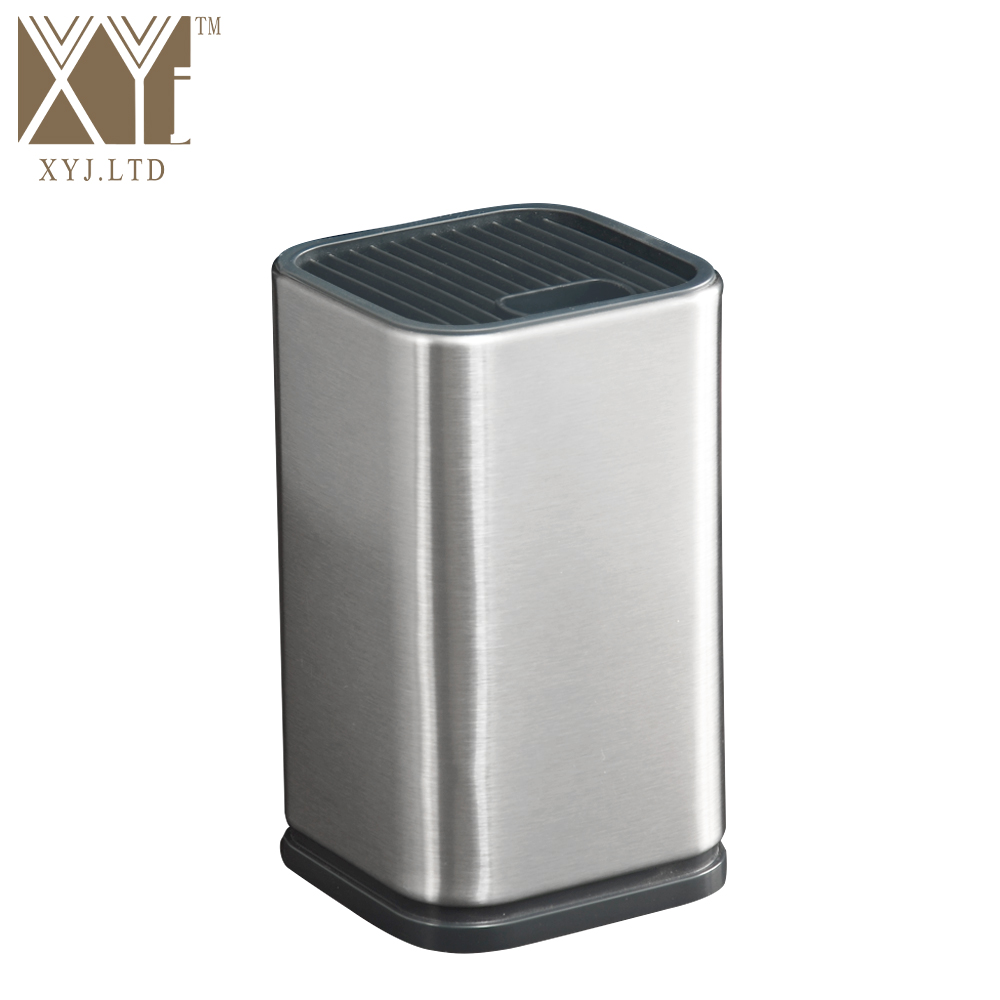 XYj Stainless Steel Kitchen Knife Stand 6 Inch Cooking Tool Knife Block Kitchen Restaurant Helper Fashion Gift Knife Stand