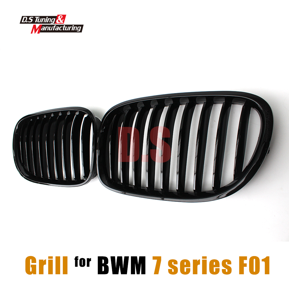 Front Bumper Grill Racing Grills Kidney Grille Mesh for BMW F01 Bumper 7 Series F02 F03 F04 2010 - 2015 1-slat Black Grill 3 series carbon front bumper racing grill grills for bmw f30 f31 standard sport 12 16 320i 325i 330i 340i non m3 style car cover