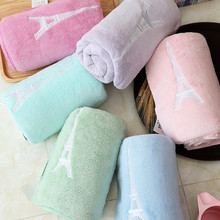 AOKEE New 10 Colors  1pcs 100% Coral Fleece Absorbent Dry Towl Reactive Print Hotel Towel 34*80cm Fabric Soft Hand Gift